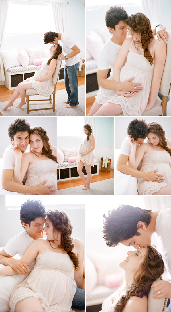 Maternity photos photographed on film