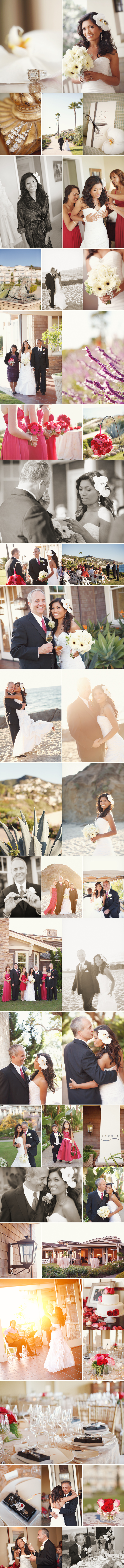 soft airy and beautiful wedding photos at the beach in laguna at the montage resort